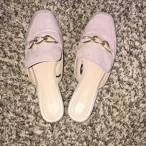 Pastel pink loafers